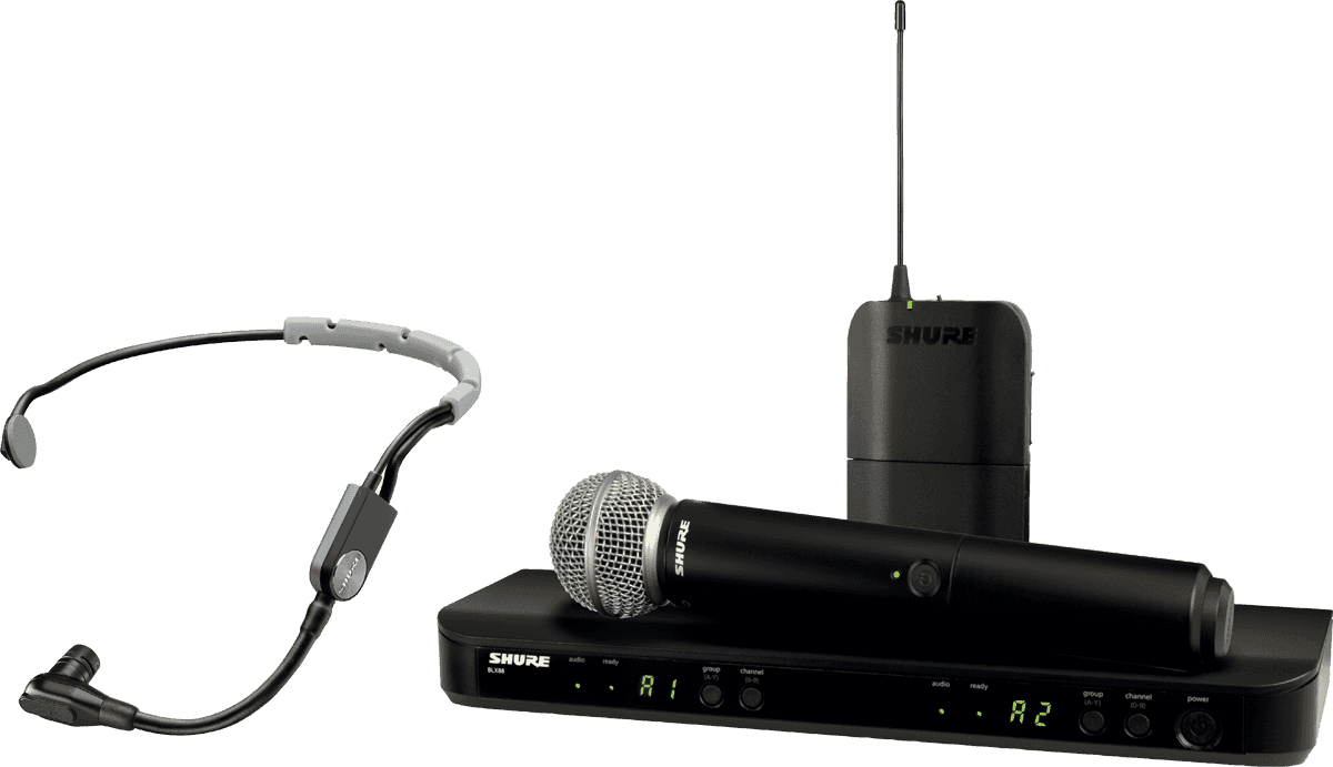 hight resolution of wireless handheld microphone shure blx1288e sm35 m17