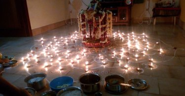 Lamps for Sai Baba