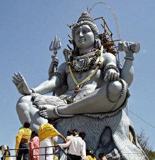 Shiva statue, Shimoga