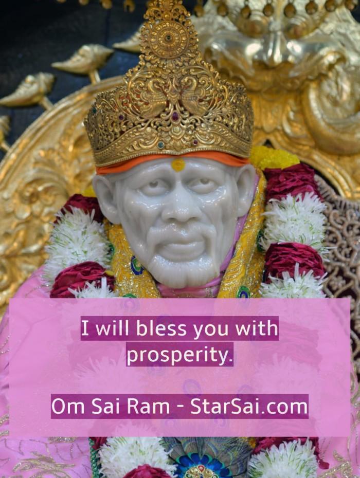 Shirdi Sai Baba Blessings for Prosperity