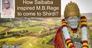MB Rege Experiences with Shirdi Sai Baba