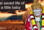 Shirdi Saibaba saved life of Baby