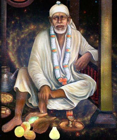 Saibaba painting so divine as if sai is really looking at you