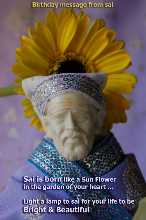 saibaba loves you , Offer flowers to Saibaba photo in your house all your life