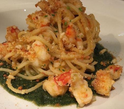 osteria-enoteca-san-marco_main-course_spaghetti-di-gragnano-con-gamberi-e-bottarga-su-crema-di-ortiche