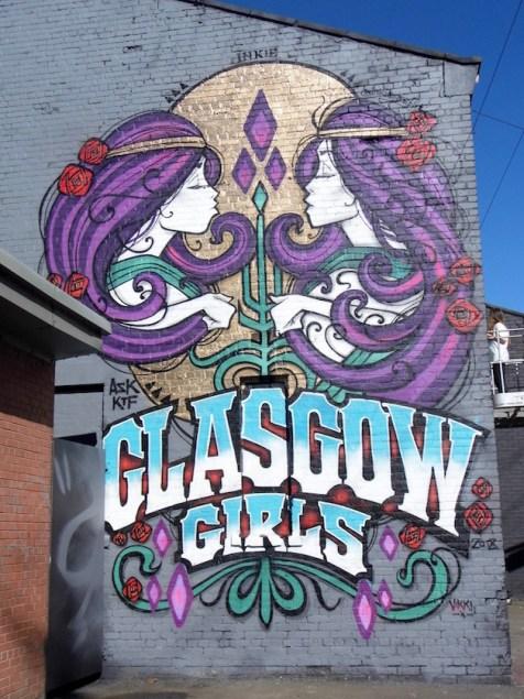 May 2018: Yardworks Festival at SWG3, Glasgow. A fantastic display of live street art.