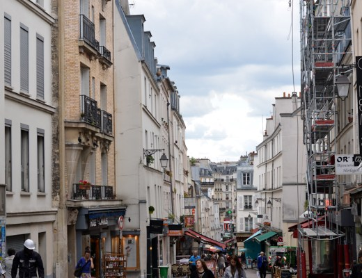 Paris street, latin quarter, rue de mouffetard