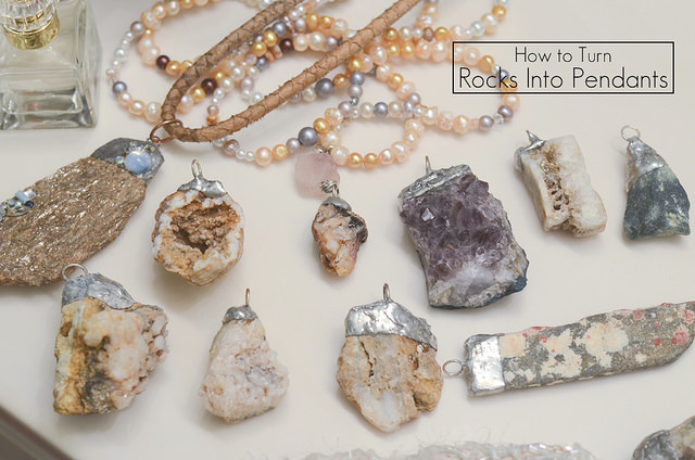How to make a necklace with a rock how to make a necklace from a rock mozeypictures Image collections