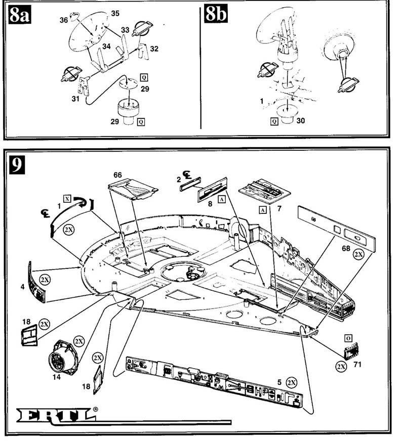 Instructions for ERTL 1/78 Millenium Falcon