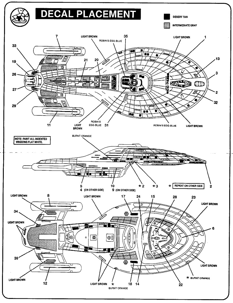 Instructions for Revell-Monogram 1/678 USS Voyager