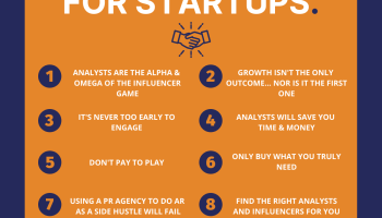 10 truths about analyst relations (AR) for a tech startup, by Starsight Communications.