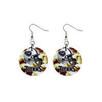 NFL Tennessee Titans- Button Earrings - Stars On Stuff