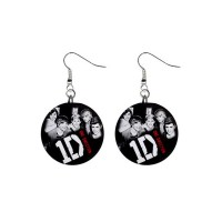 One Direction - Button Earrings - Stars On Stuff
