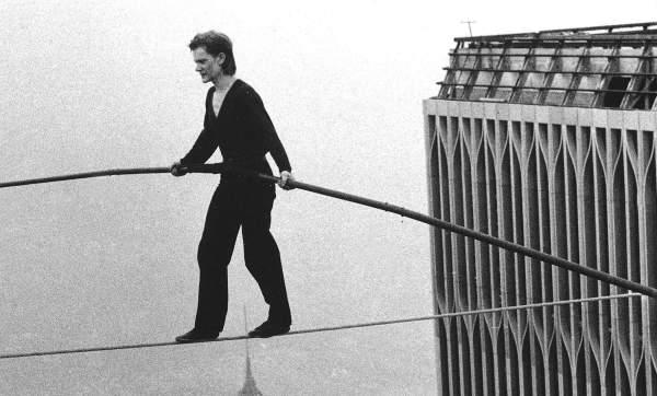 Philippe Petit Twin Towers Walking
