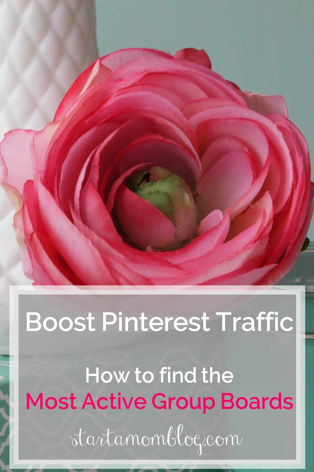 Boost Pinterest Traffic - How to find the most active group boards - step by step guide www.startamomblog