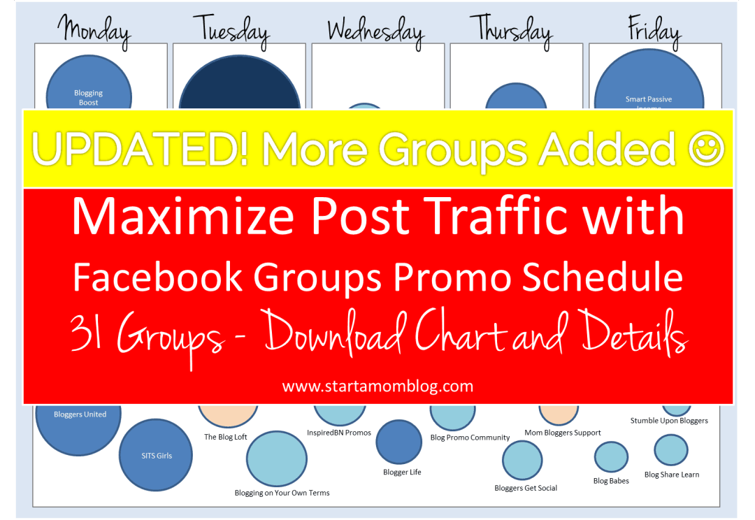 Facebook Groups Promo Schedule UPDATED