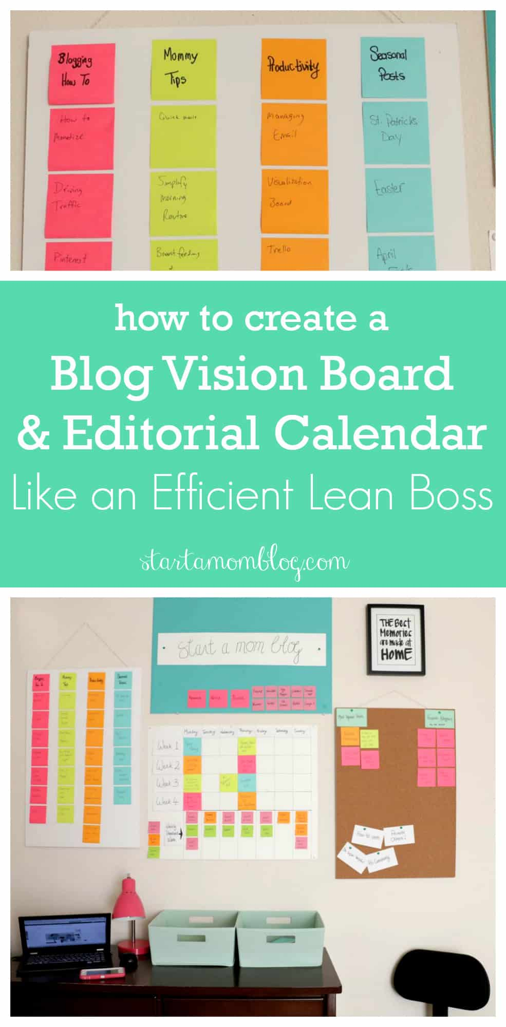 How to create a blog vision board and editorial calendar like an efficient lean boss