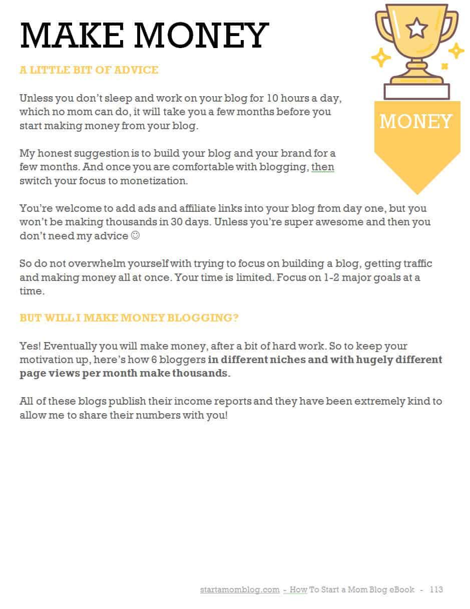 Start today how to write an ebook in 1 month as a mom blogger below is what my ideas looked like when i created them for my ebook fandeluxe Choice Image