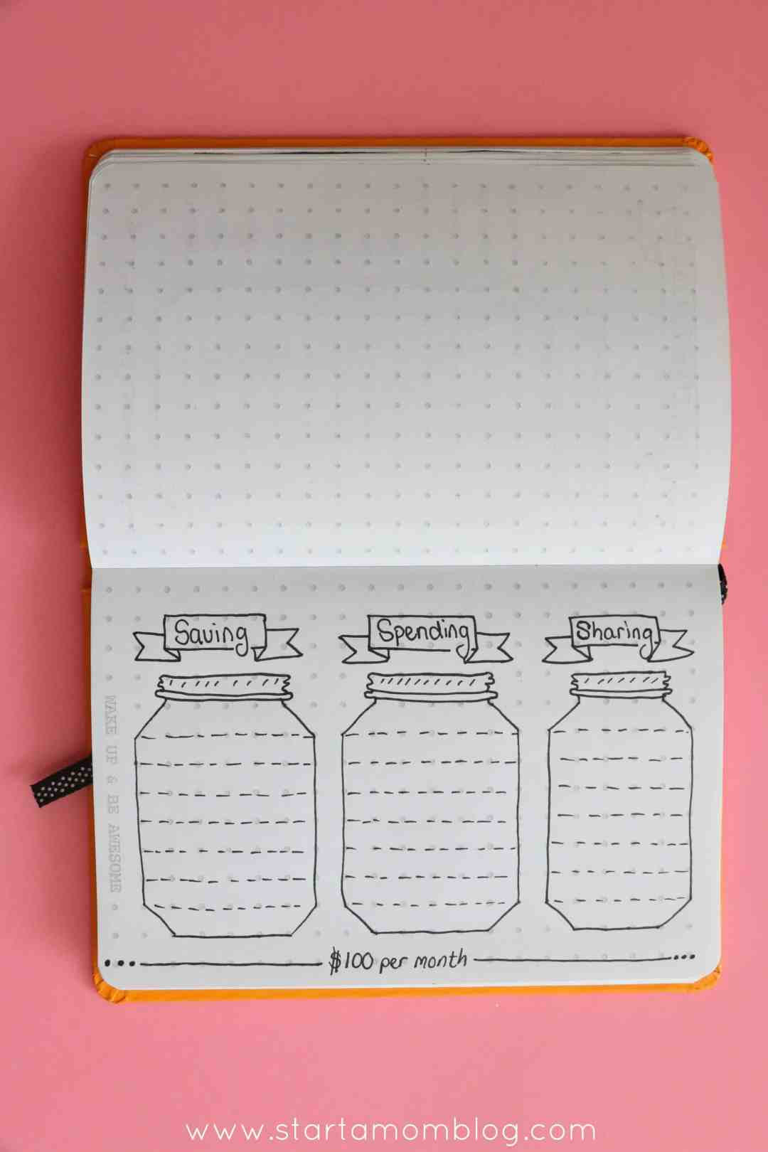 saving spending sharing bullet journal