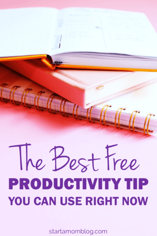 What is the quickest thing you can do right now to be 31% more productive? What is the best productivity tip? www.startamomblog.com