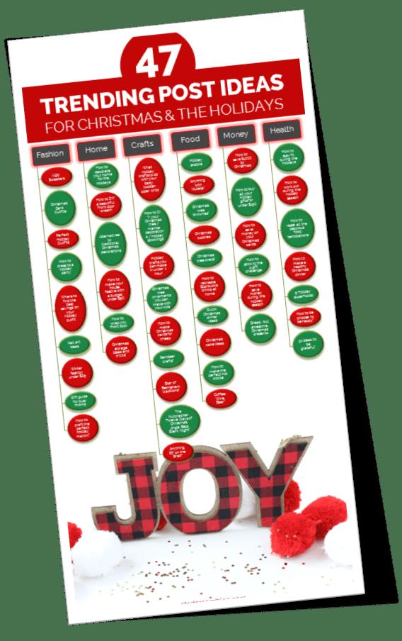47 Blog Post Ideas for Christmas and the Holiday Season