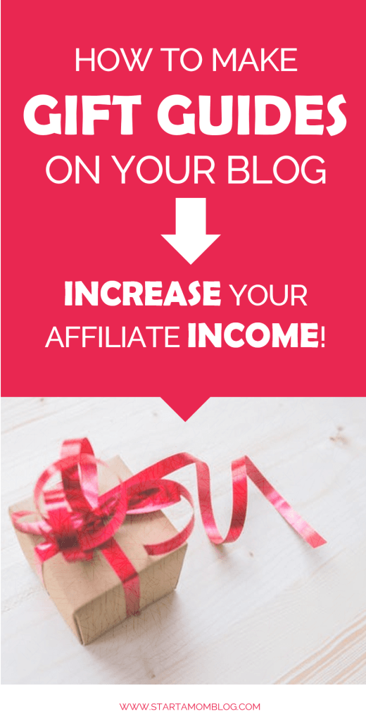how to create gift guides to increase your blog affiliate income