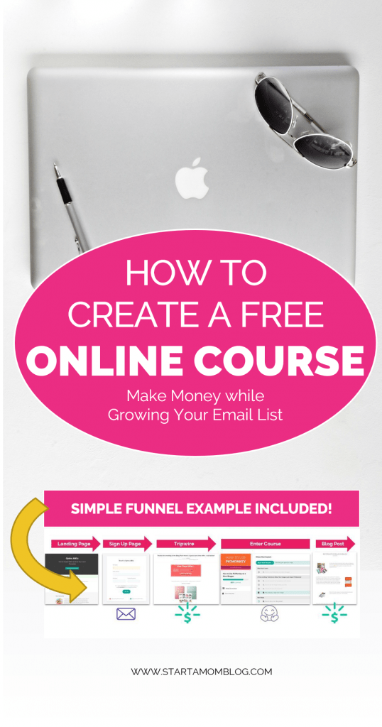 How to create a free online course and make money while growing your email list.