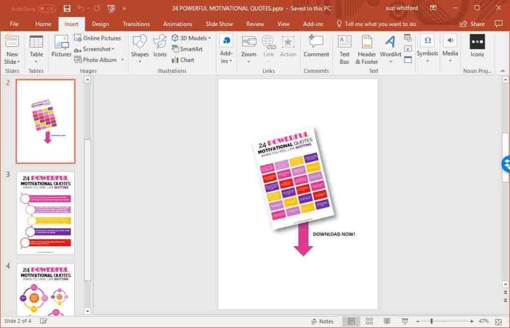 How to create printables with powerpoint to grow your email list