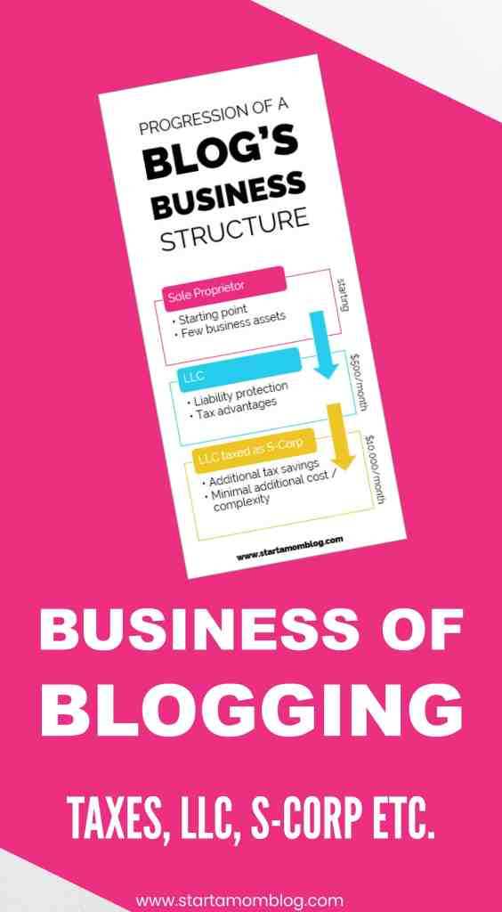 Blogging and taxes llc scorp business