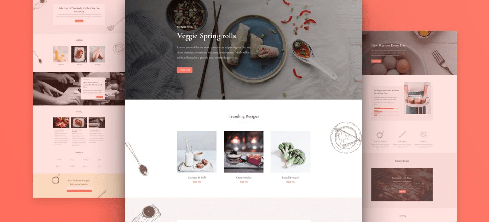 divi layout food
