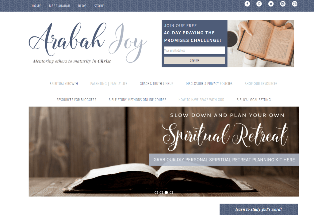arabah joy christian god blog blogging idea that make money