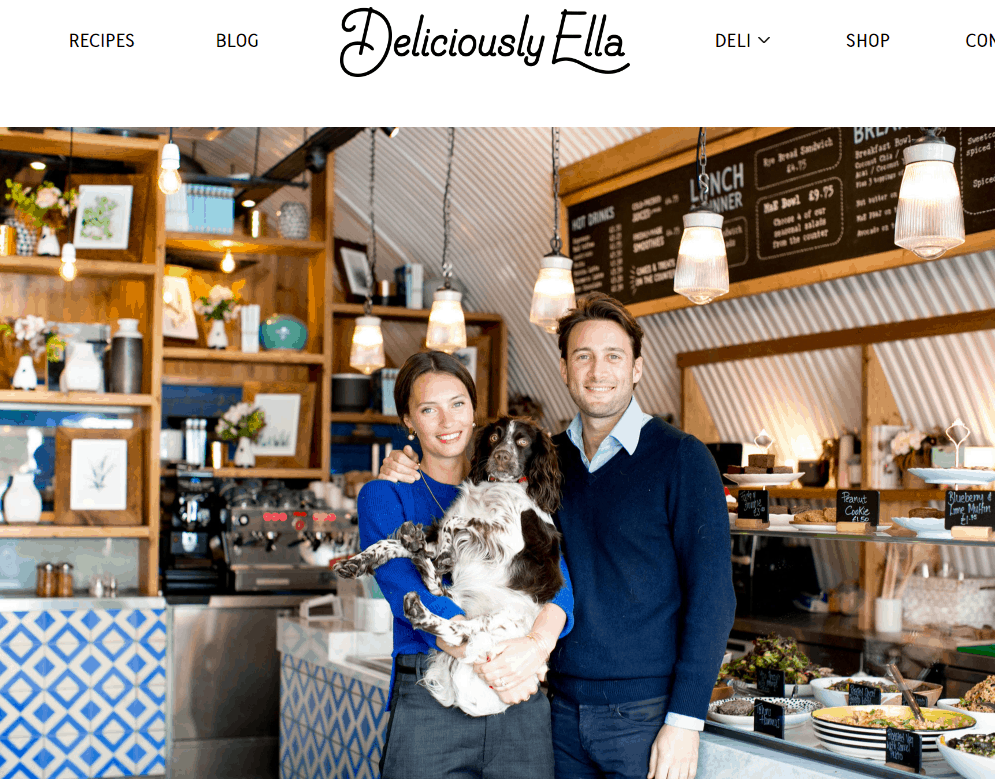 what is a lifestyle blog - example delicious ella