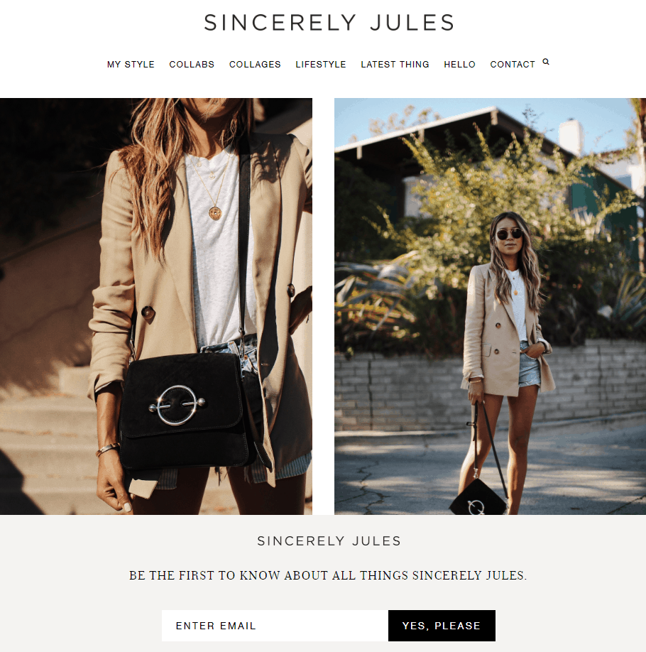 what is a lifestyle blog - example sincerely jules