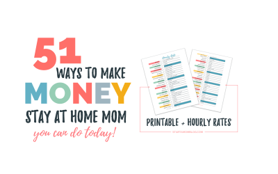 50 Ideas – How to Make Money as a Stay at Home Mom