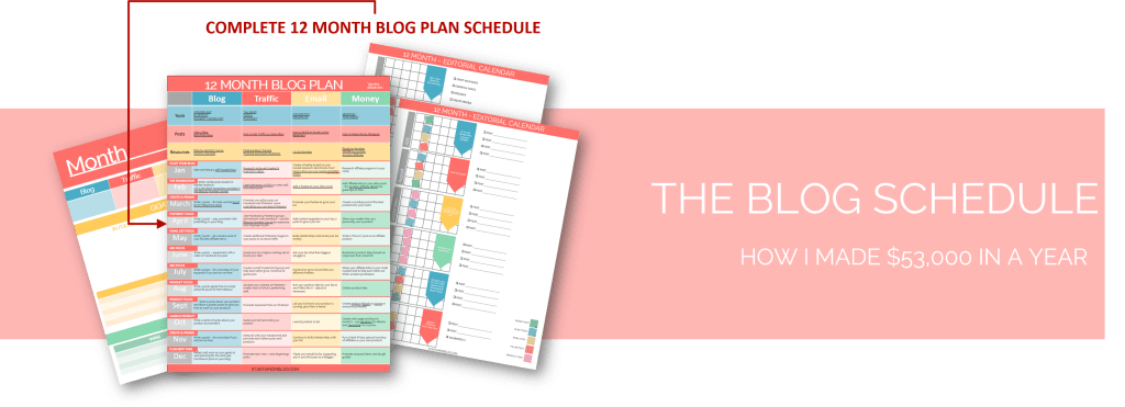 THE BLOG PLAN SCHEDULE 53k