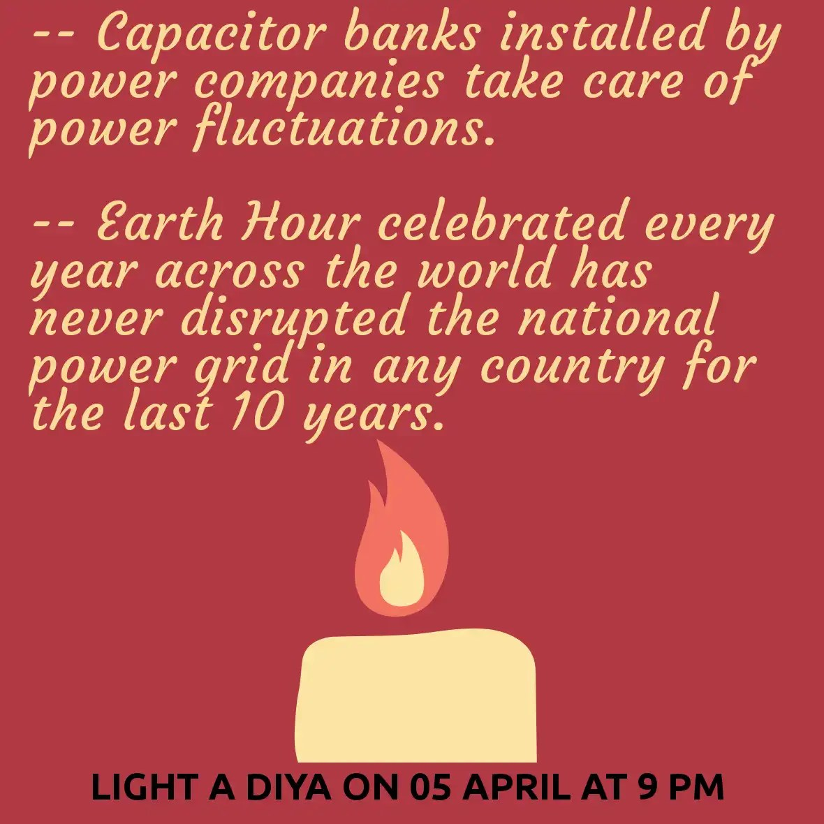 Two reasons why the power grid will not fail on April 05, 2020 at 9 pm