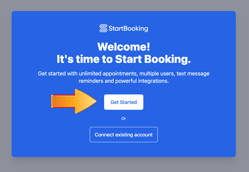 Get started with Start Booking