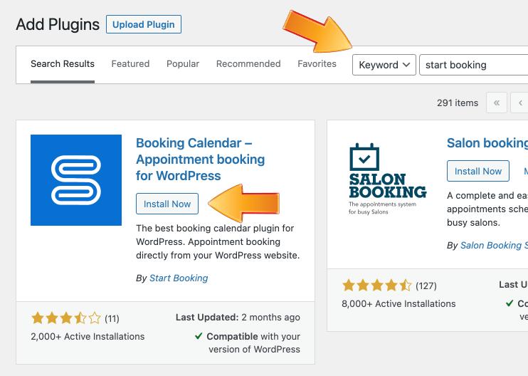 Search for WordPress scheduling plugin