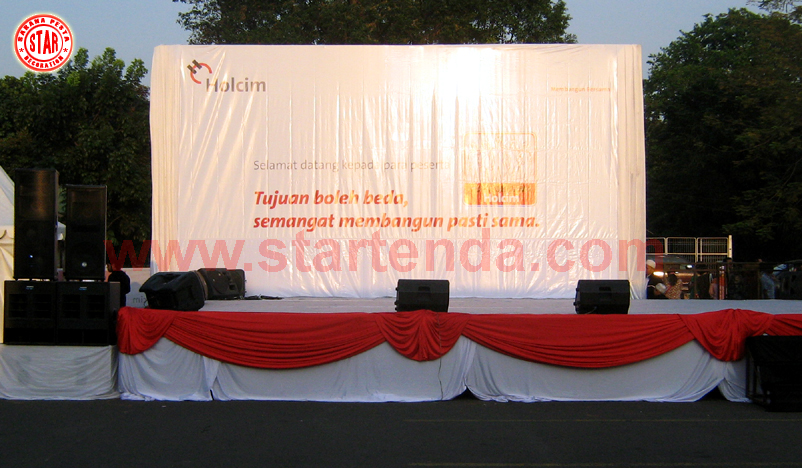 Star Tenda  backdrop partisi dekorasi sound system