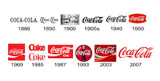 Coca Cola have changed their logo incrementally, over the period of many years.