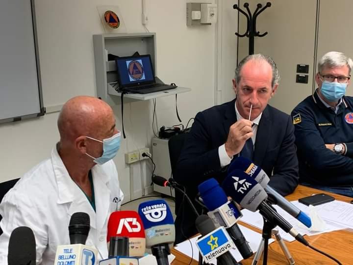 冠狀病毒,威尼托將如何通過快速抗原測試而移動