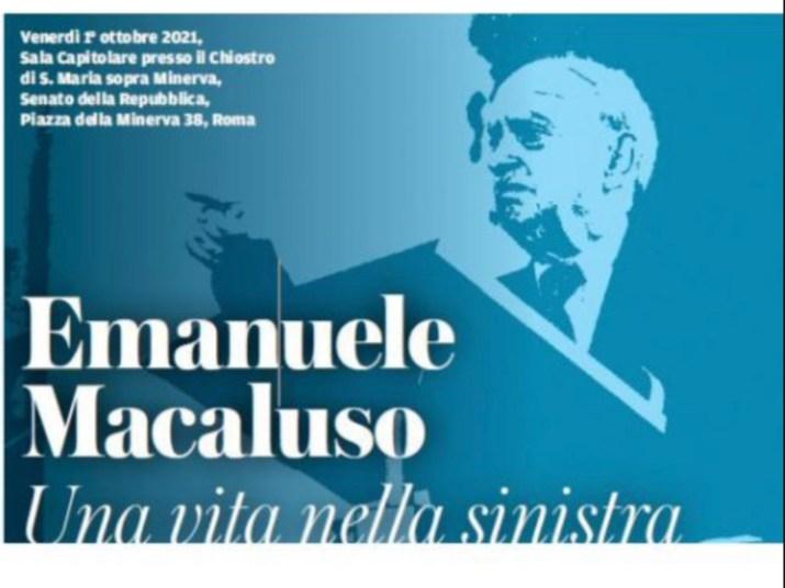Emanuele Macaluso, les luttes syndicales et sociales
