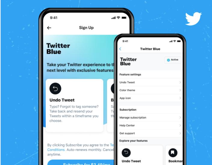 Por eso Twitter lanza Blue, tweets por suscripción