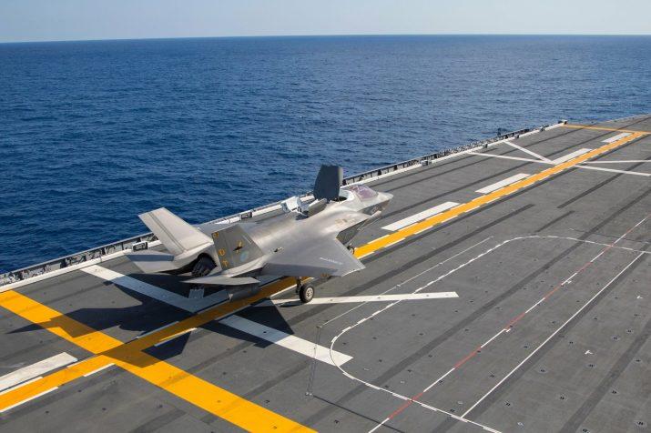 Japon, première fois d'un F-35B à bord du destroyer Izumo