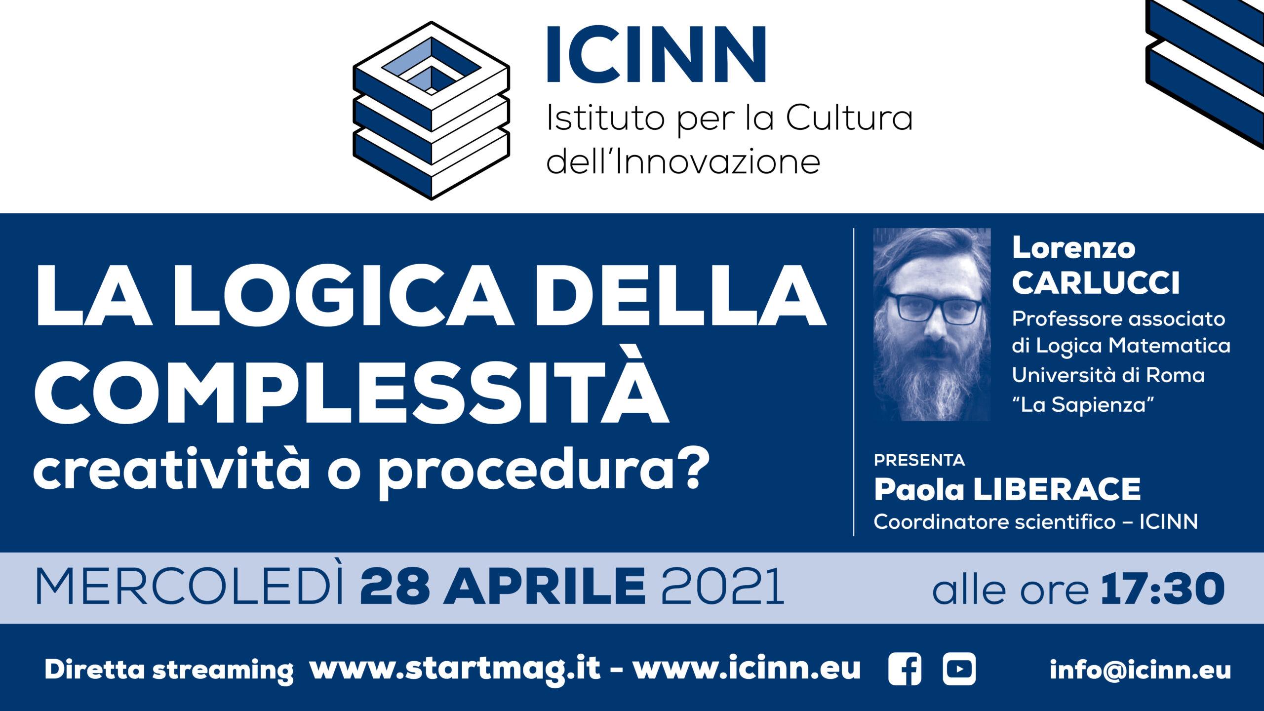 複雜性的邏輯:4月28日舉行的Icinn網絡研討會