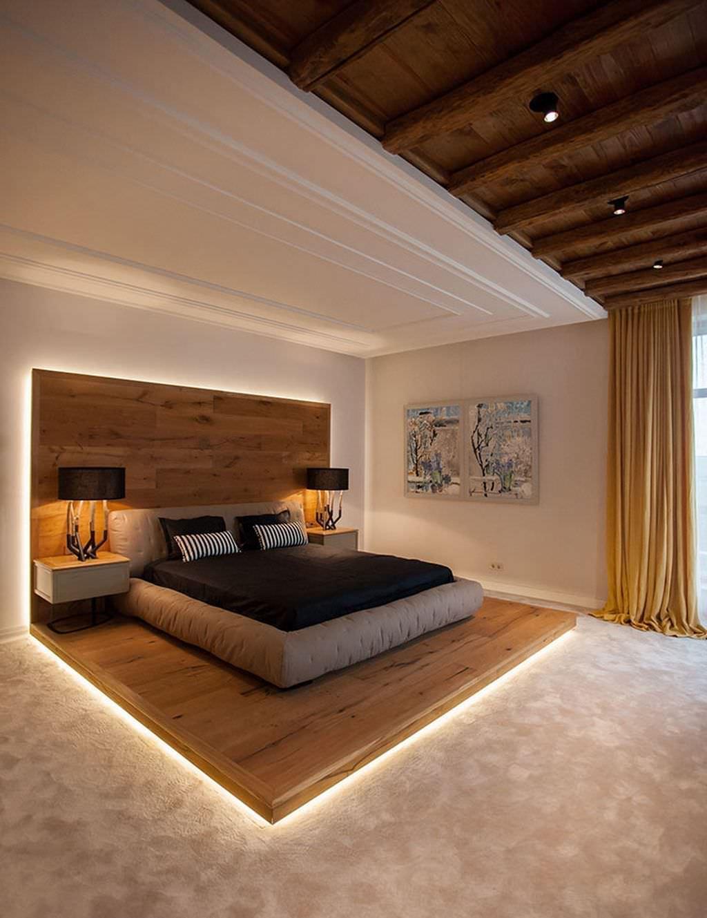 100 idee camere da letto moderne  Colori illuminazione