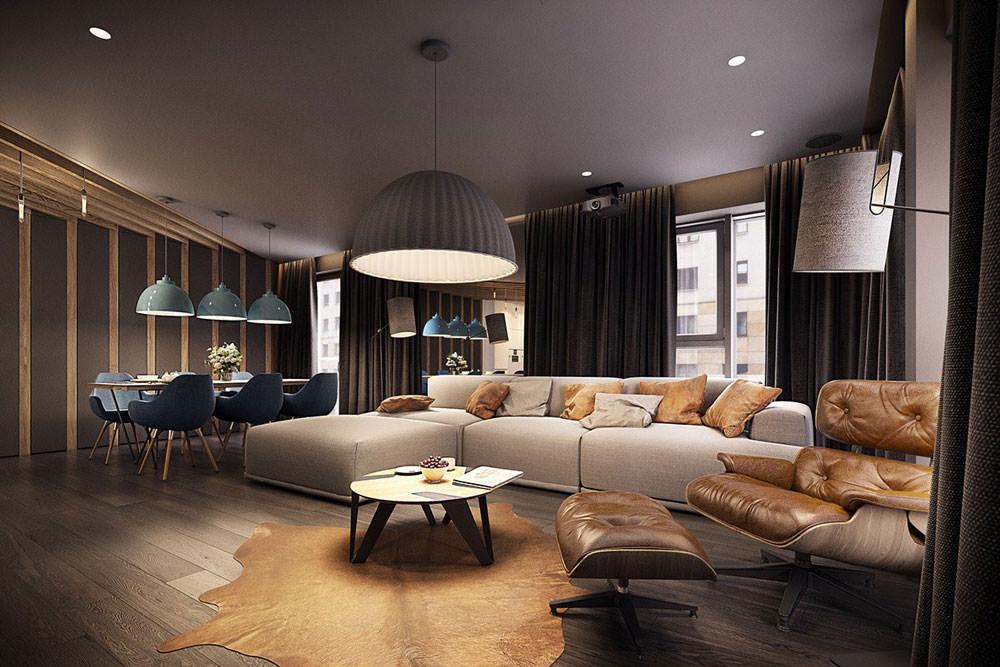 Chi non desidera avere un angolo bar nel soggiorno di casa, potendo. Stupendo Appartamento Moderno Elegante E Drammatico Design Ad Alto Contrasto Per Una Casa Moderna Start Preventivi