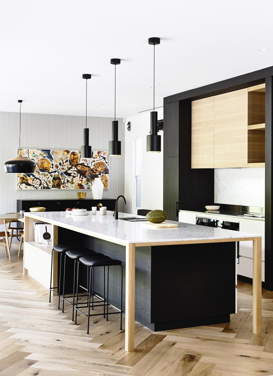 100 idee cucine con isola  Soluzioni moderne e funzionali  Isola centrale con tavolo bancone