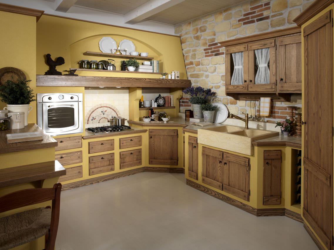 Se devi dare un nuovo look alla tua cucina potresti iniziare dipingendo le pareti di un colore diverso. Cucina In Muratura 70 Idee Per Cucine Moderne Rustiche Country Piastrelle Cemento E Resina Start Preventivi