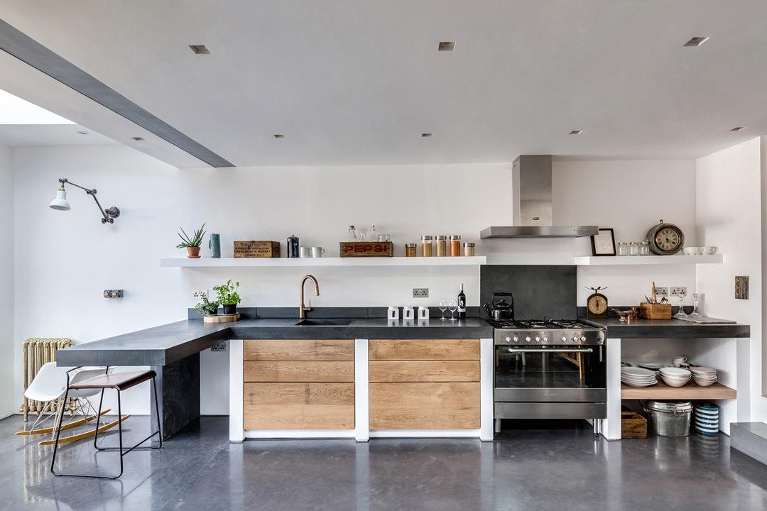 Cucina in muratura  70 Idee per cucine moderne rustiche country chic  Piastrelle cemento e